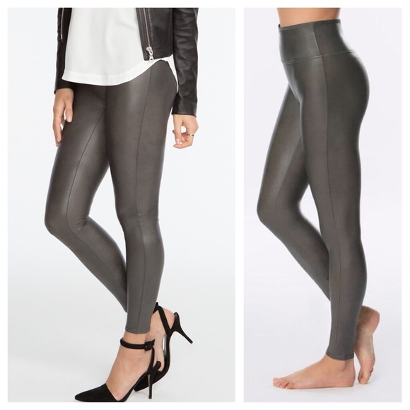a51f996e320d3 Spanx faux leather leggings. Listing Price: $50.00